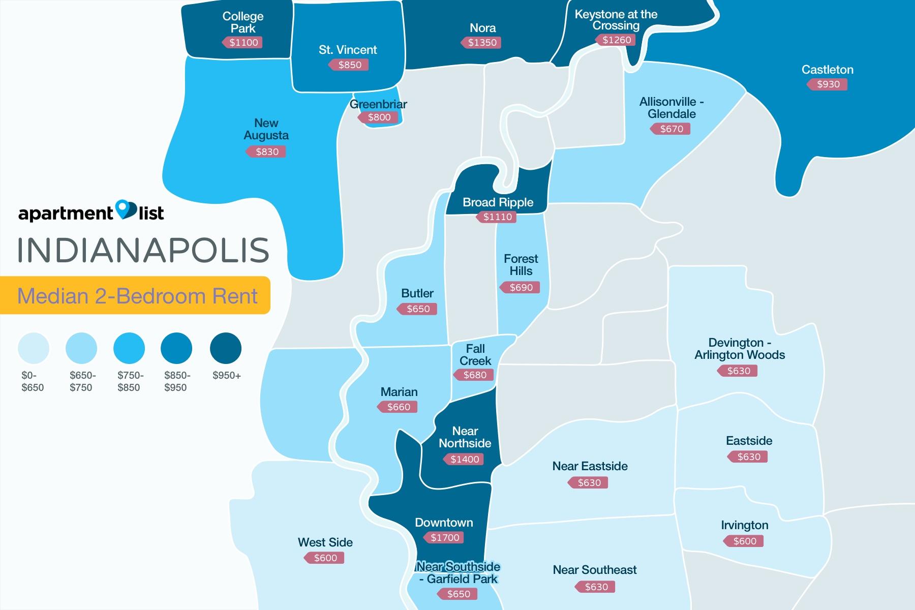 Indianapolis Neighborhood Price Map
