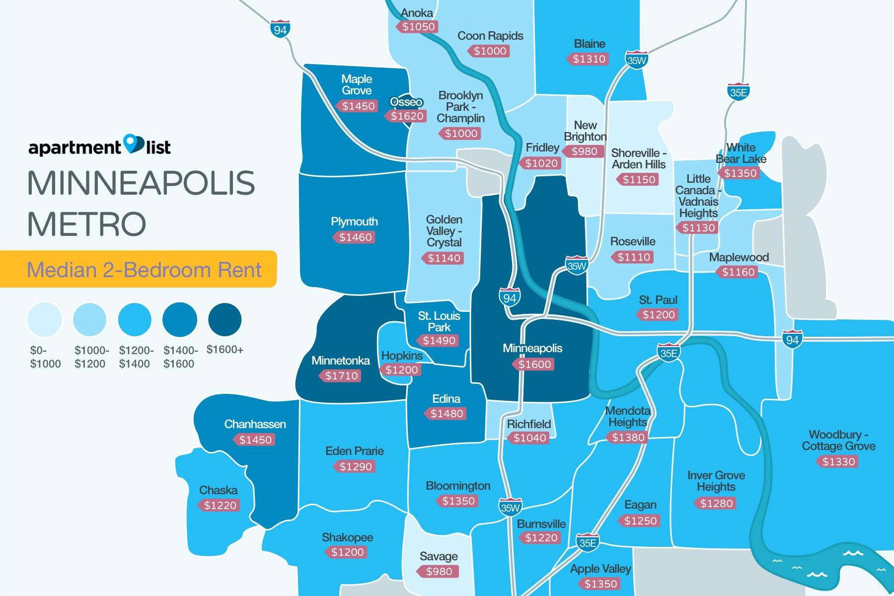 Minneapolis Neighborhood Price Map