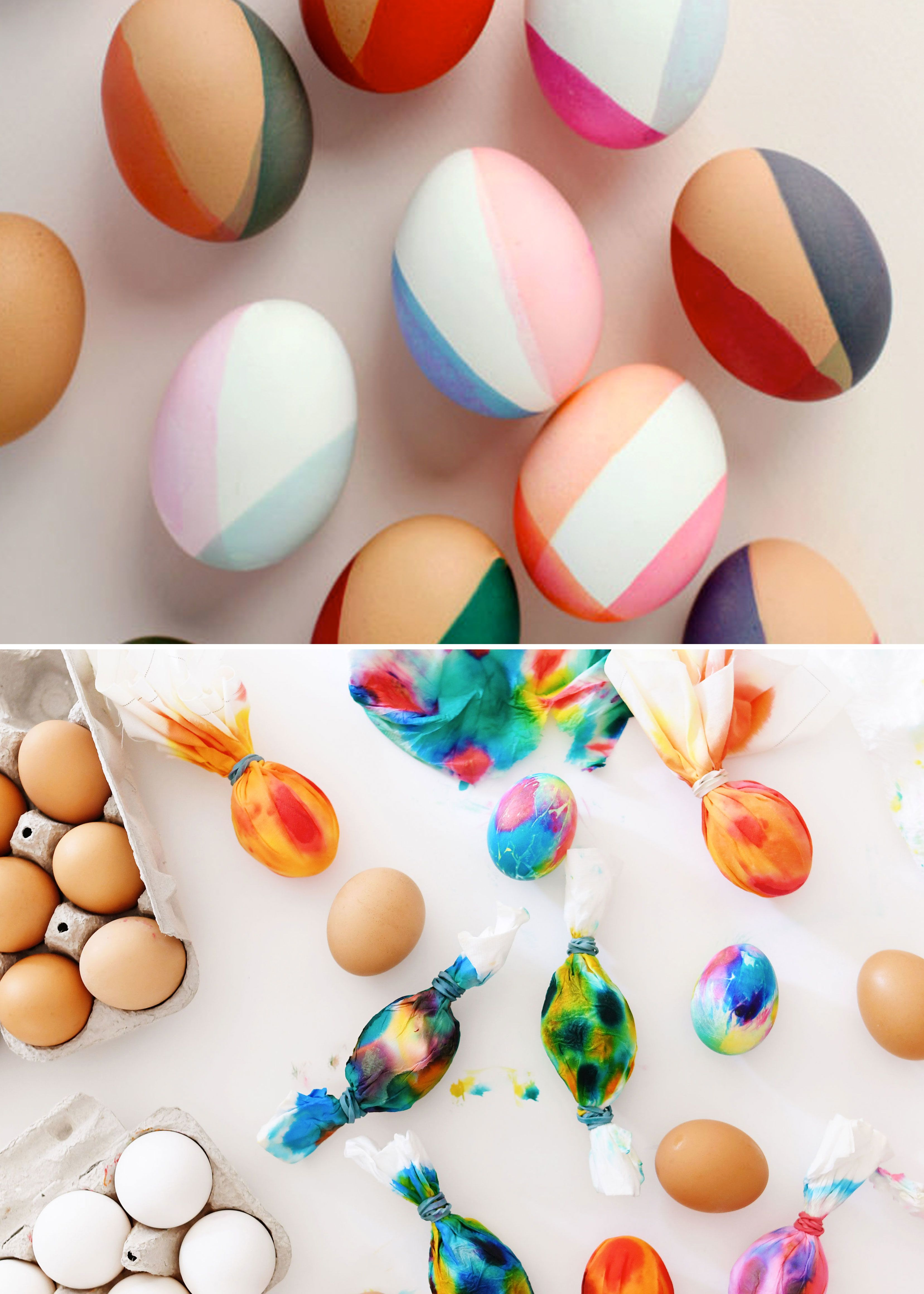 Two Gorgeous, Modern Ways to Dye Design-y Easter Eggs