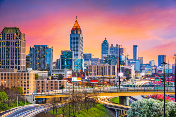 Atlanta, Georgia Skyline at Dusk