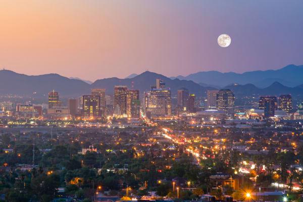 Phoenix, Arizona Downtown Sunset