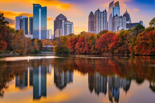 Atlanta, Georgia skyline from Piedmont Park