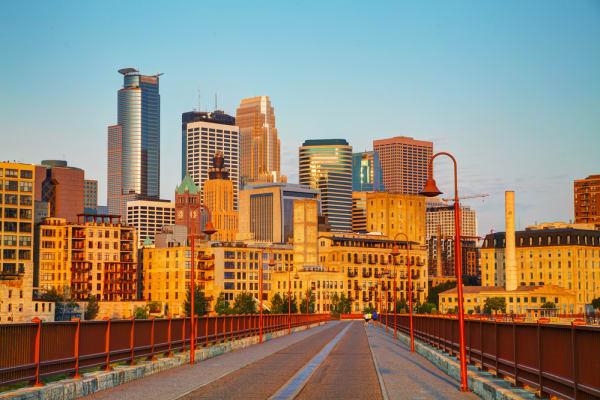 Downtown Minneapolis Bridge