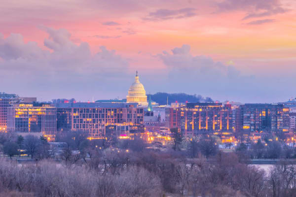 Washington DC Skyline Sunset