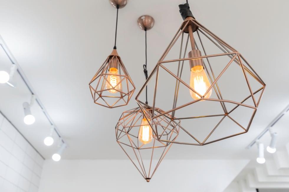 Retro copper light fixtures