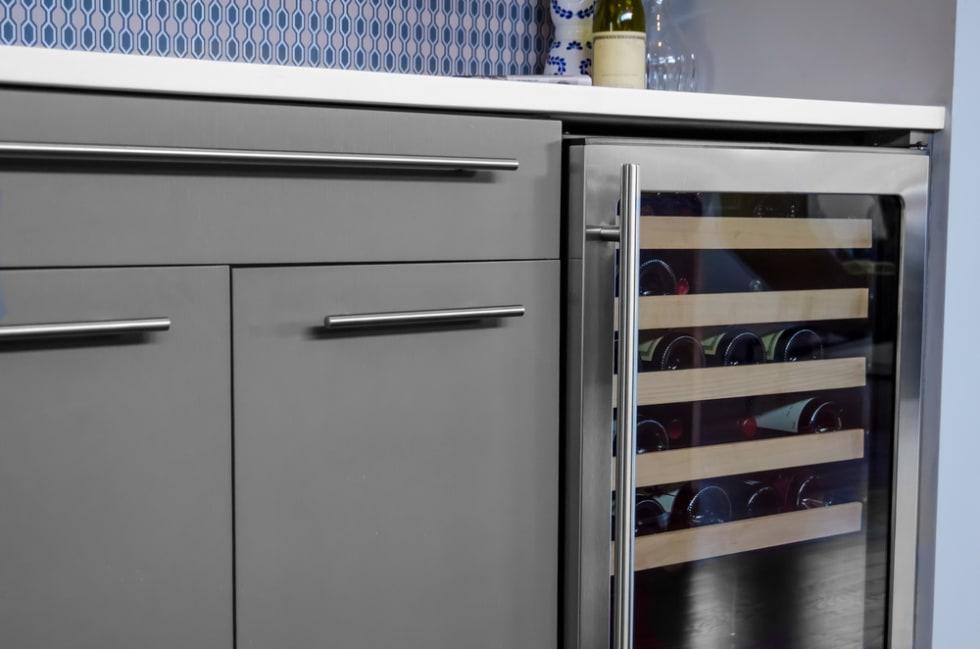 wine fridge in kitchen