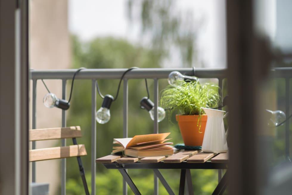 cozy apartment balcony