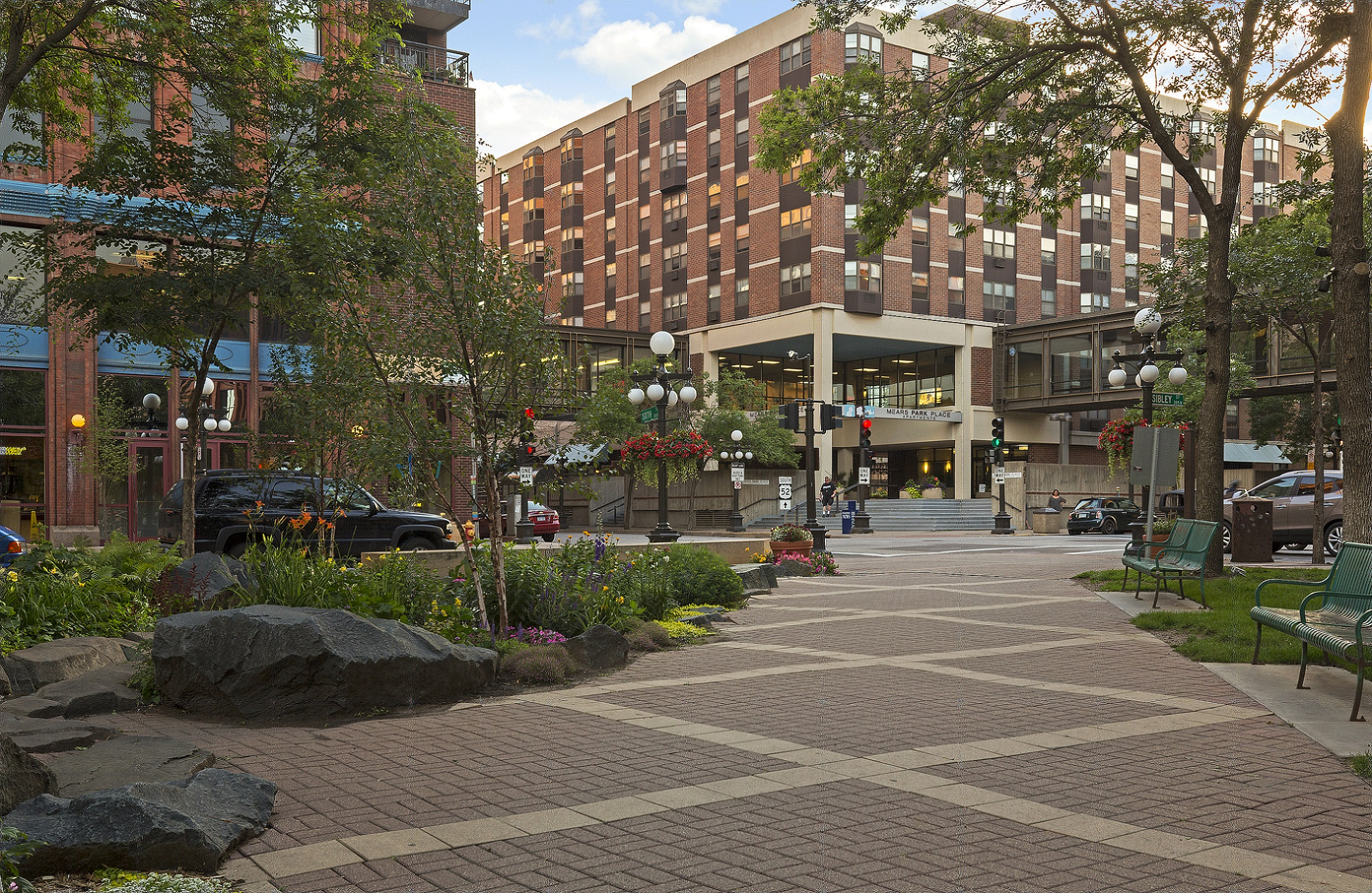 Mears Park - See Mears Park from your apartment window  get involved in the culture of everything happening in Lowertown, St
