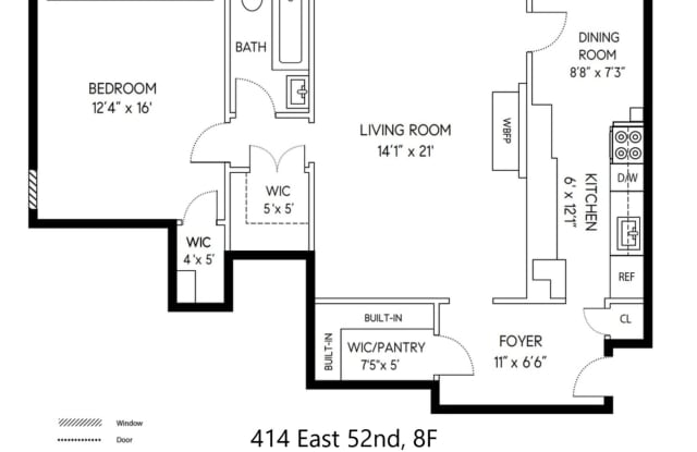 414 East 52nd Street 8F - 414 E 52nd St, New York, NY 10022