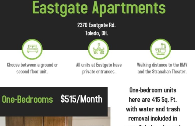 Eastgate Apartments - 2360 Eastgate Road, Toledo, OH 43614