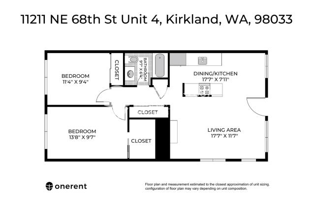 11211 NE 68th Street Unit 4 - 11211 Northeast 68th Street, Kirkland, WA 98033
