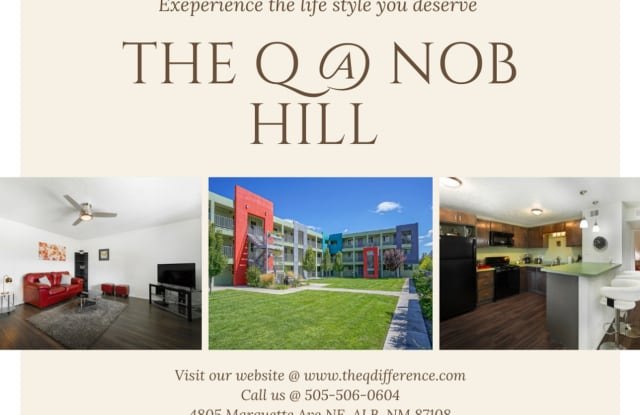 The Q at Nob Hill Marquette - 4805 Marquette Avenue Northeast, Albuquerque, NM 87108