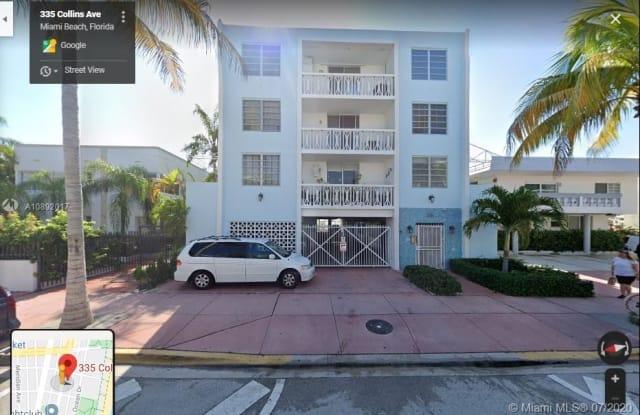 335 Collins Ave - 335 Collins Avenue, Miami Beach, FL 33139