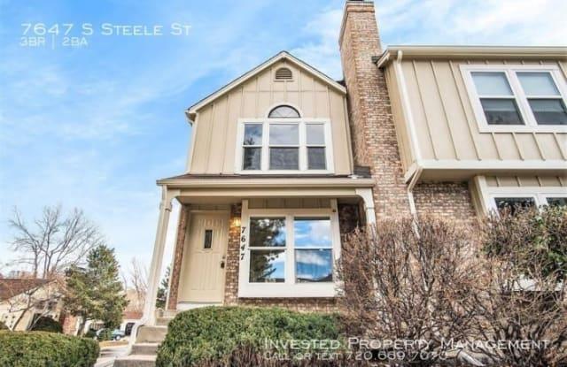 7647 S Steele St - 7647 South Steele Street, Centennial, CO 80122