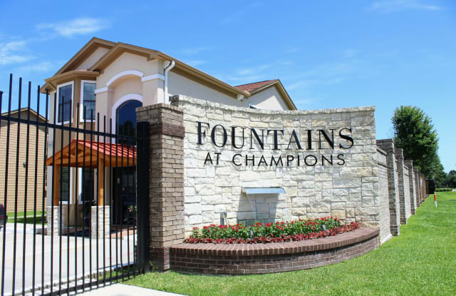 The Fountains at Champion - 14827 Mittlestedt Champions Drive, Houston, TX 77069
