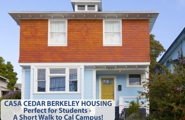 Casacedar.com Casa Cedar Berkeley Student Housing - 2135 Cedar Street, Berkeley, CA 94709