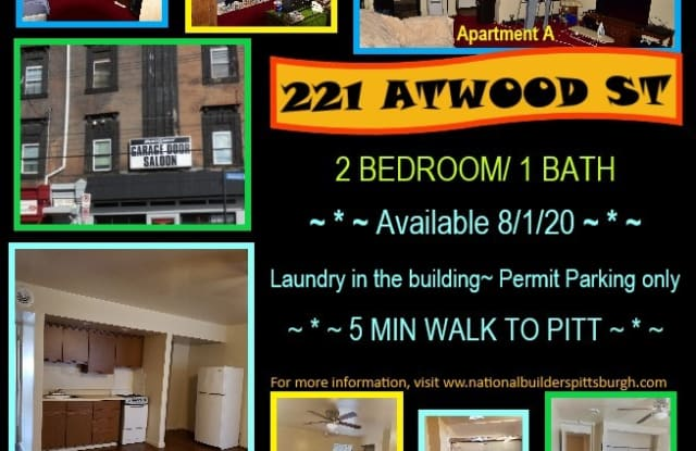 221 Atwood Street, Apt A, Pittsburgh, PA 15213 - 221 Atwood St, Pittsburgh, PA 15213