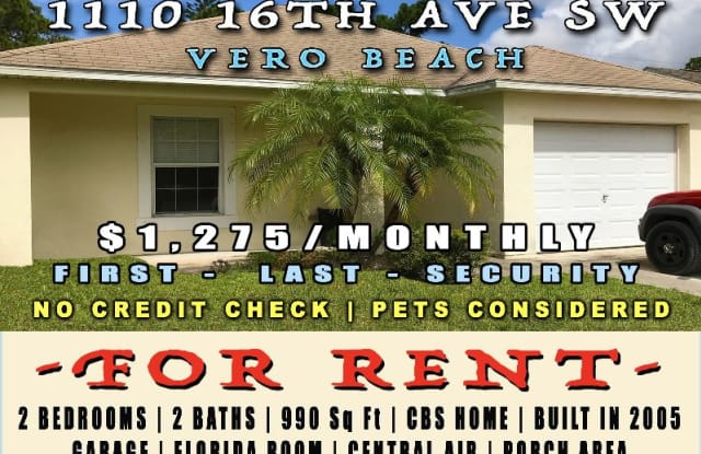 1110 16th Ave SW - 1110 16th Avenue Southwest, Florida Ridge, FL 32962
