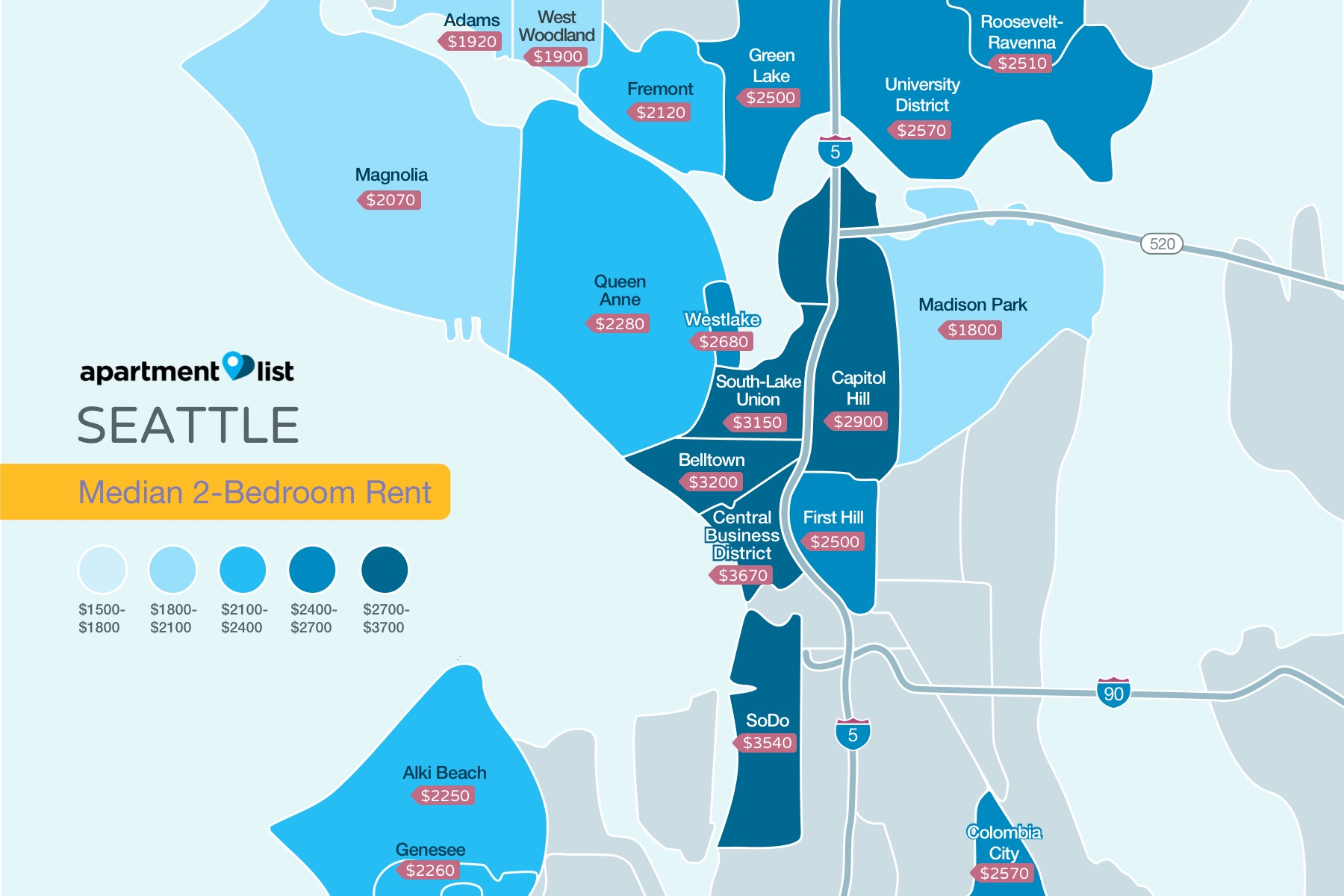 Seattle Neighborhood Price Map