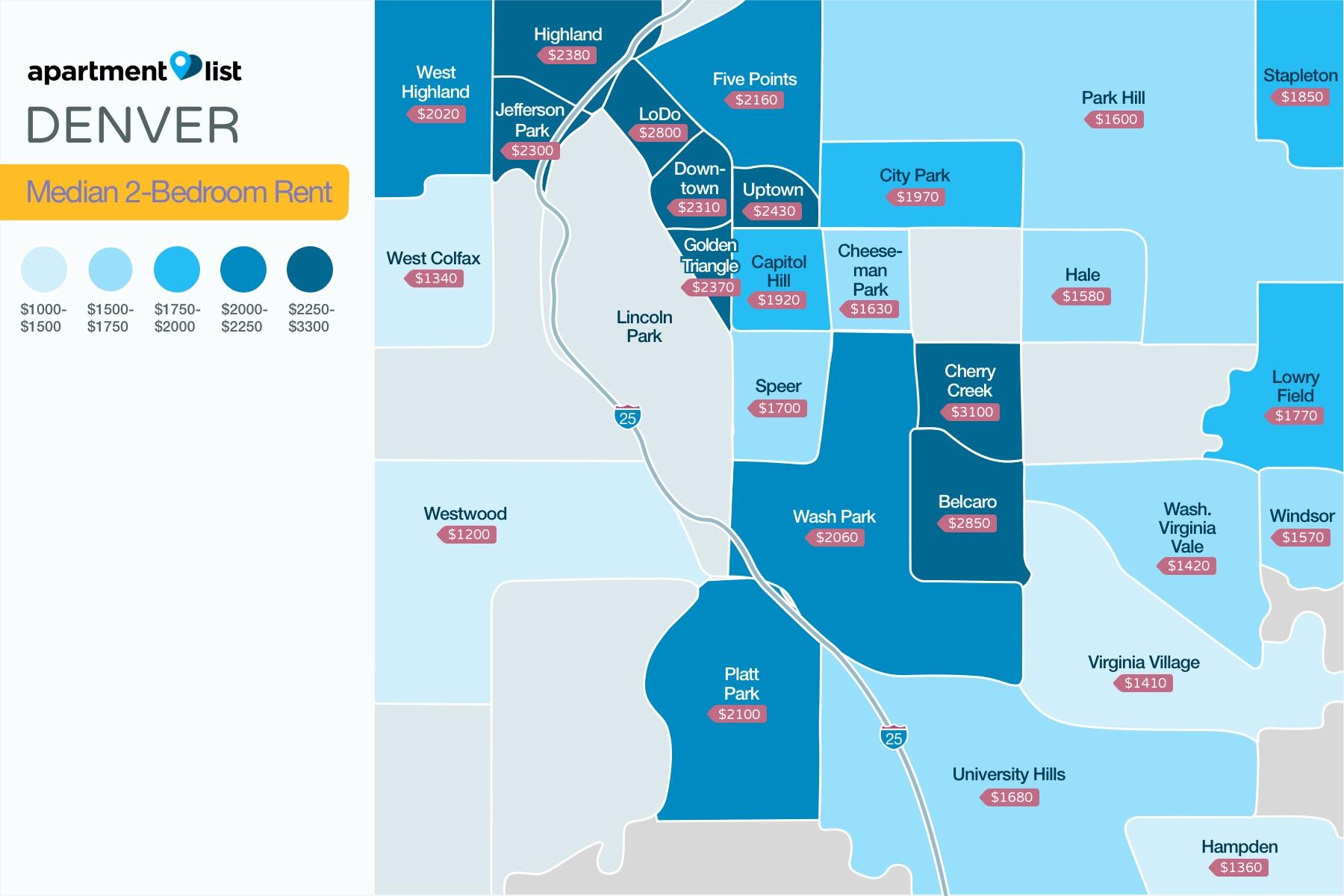 Denver Neighborhood Price Map