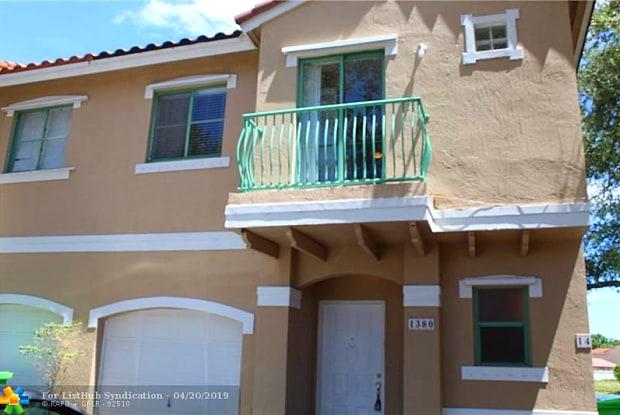 1380 NW 126th Ave - 1380 Northwest 126th Avenue, Sunrise, FL 33323