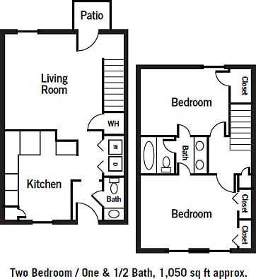 2 Bedroom 1 5 Bathroom Townhome. Legacy Village   Apartments for rent