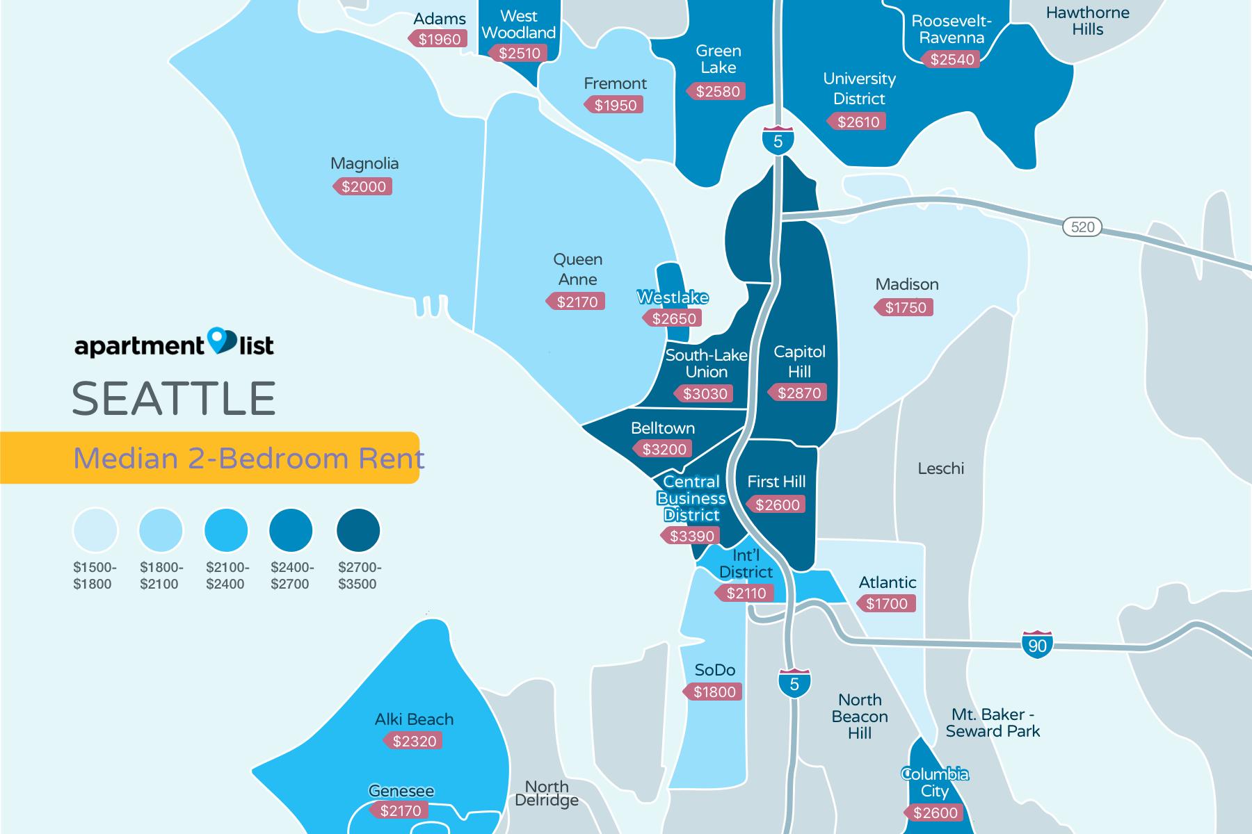 Seattle Neighborhood Price Map