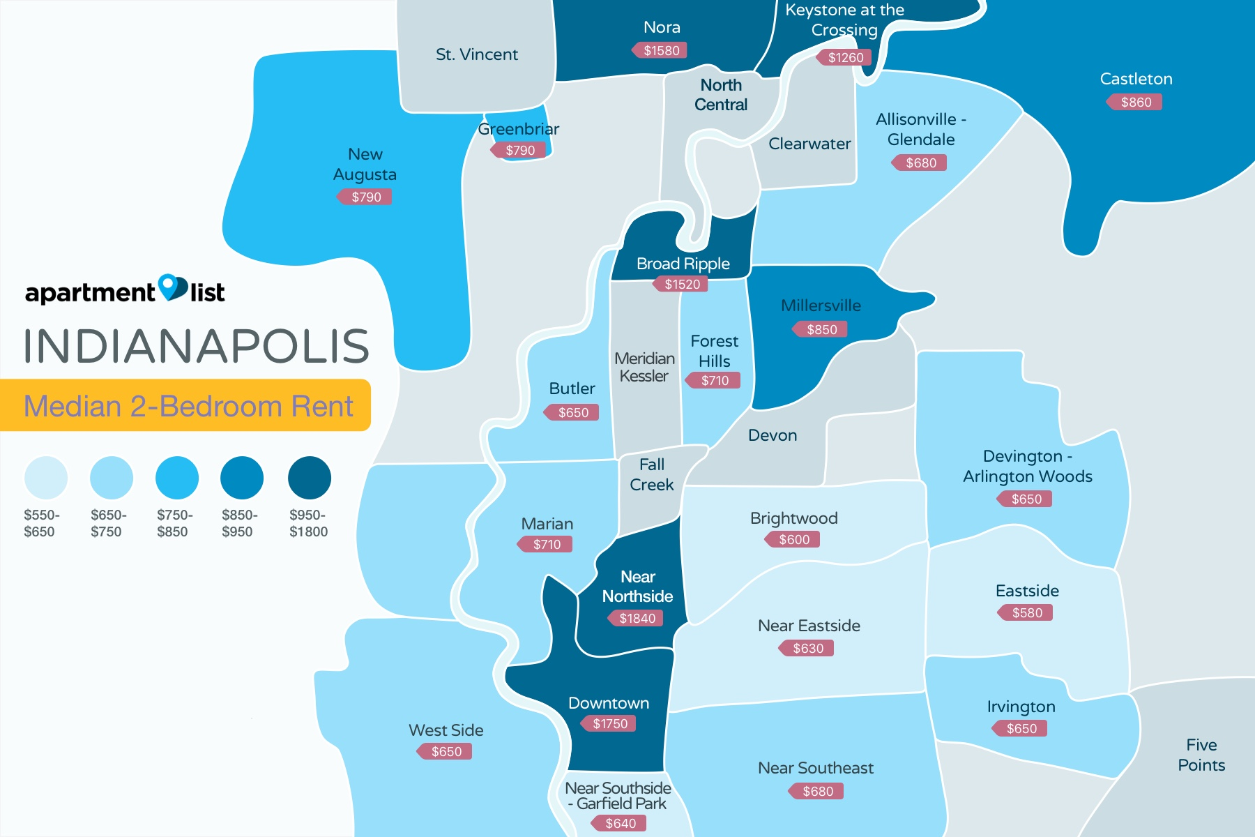 Indianapolis Neighborhood Price Map