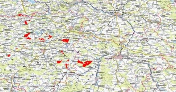 Vysocina-mapa