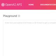 OpenAI GPT-3 Playground