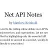 Net API Notes