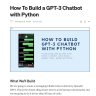 How To Build a GPT-3 Chatbot with Python