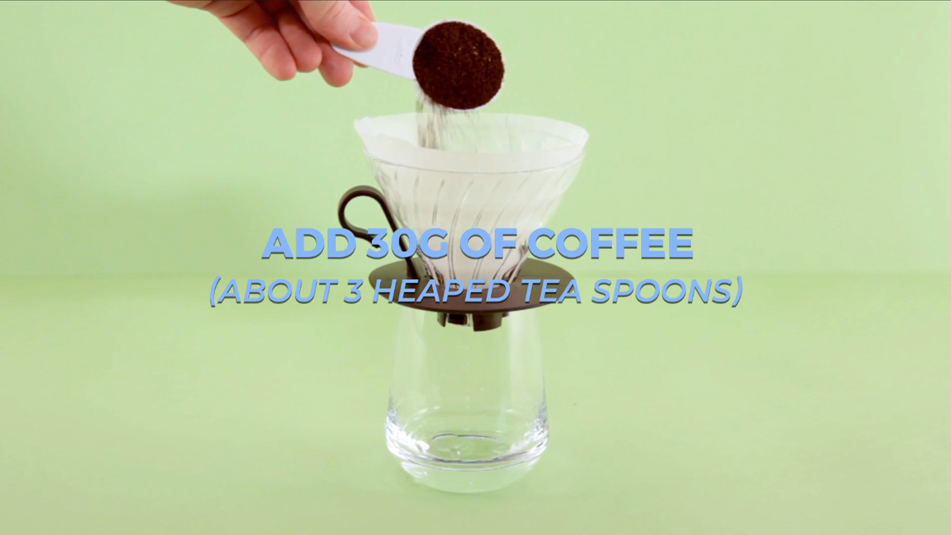 Discard the water from your cup and replace the dripper.