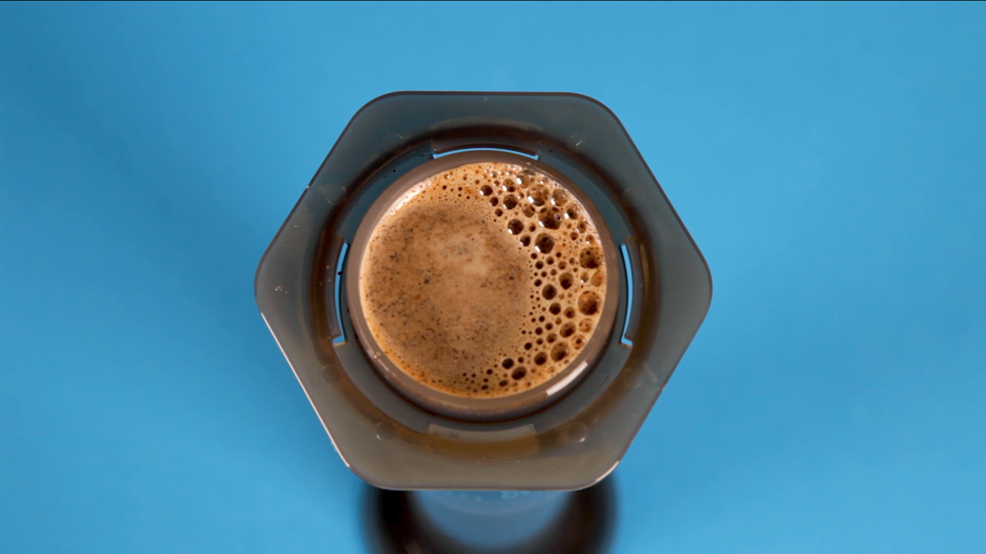 leave the coffee to brew