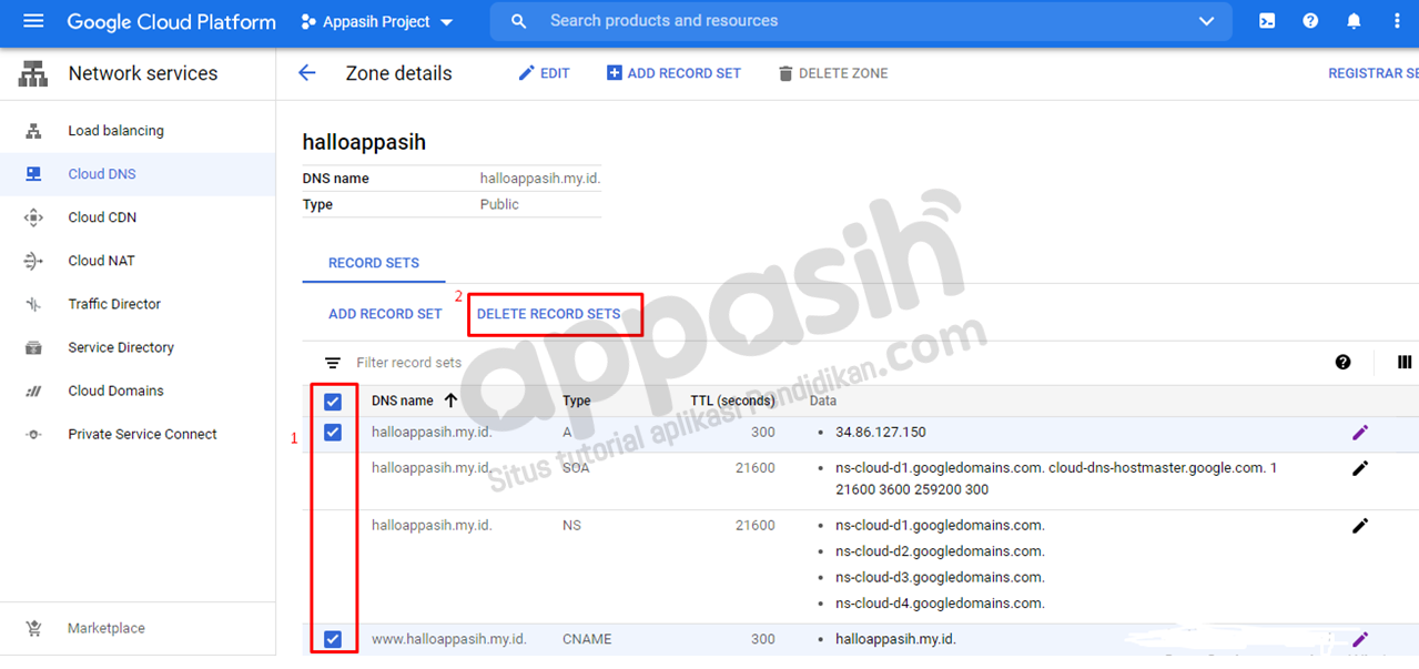 Menghubungkan domain ke VPS Google Cloud