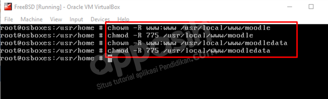 install moodle di freebsd