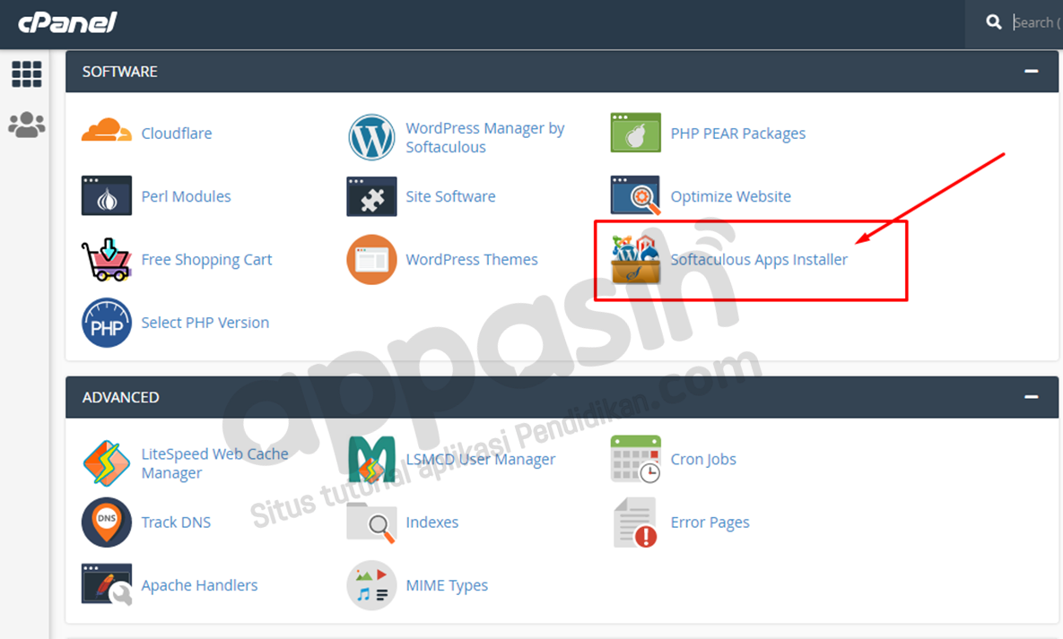 install moodle di hosting