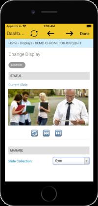 Mobile App for Digital Signage