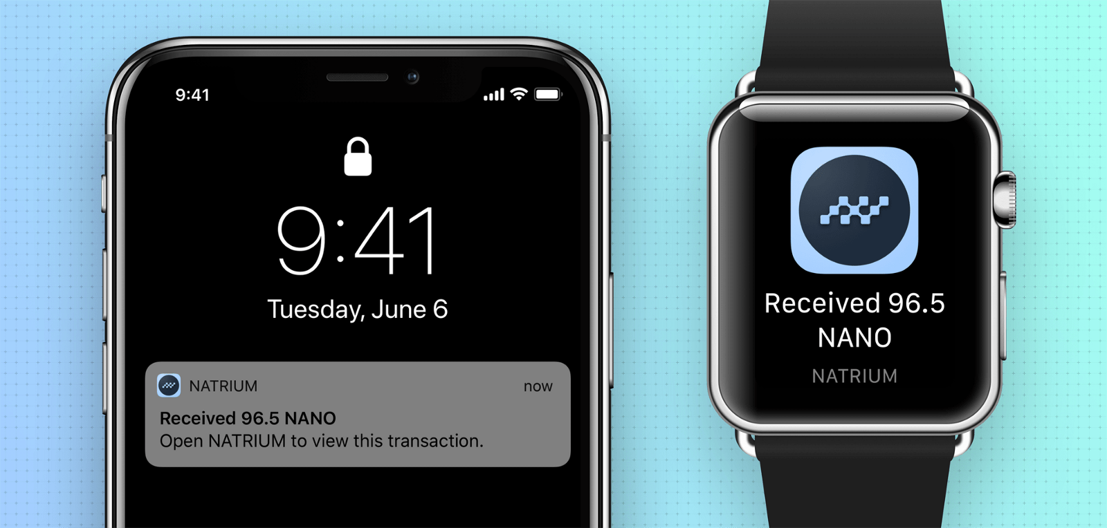 Get notifications when you receive Nano, under a second