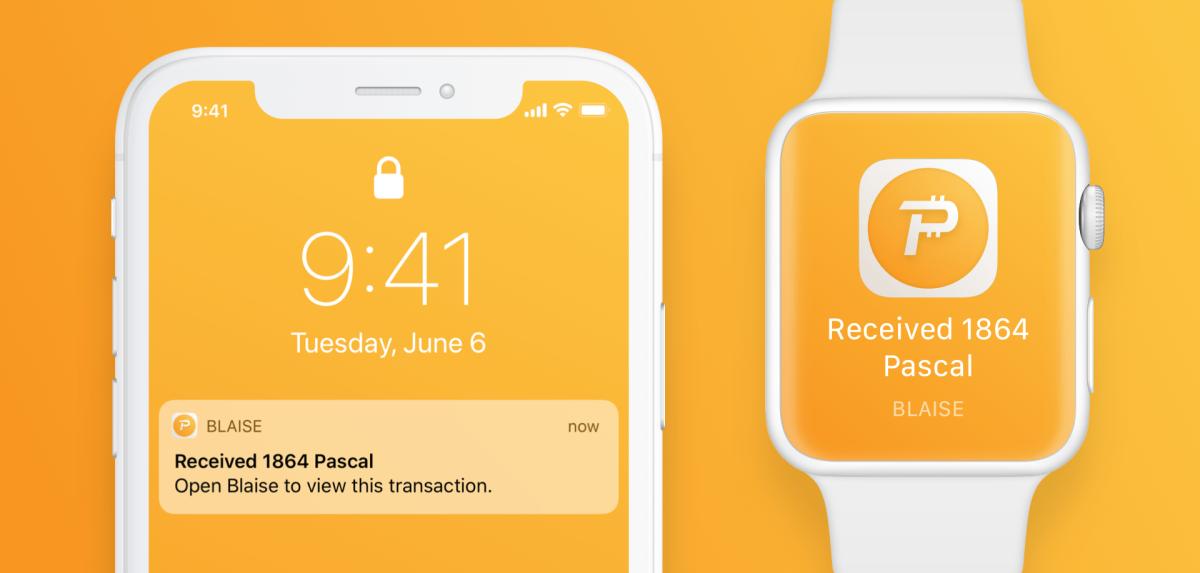 Blaise notifies you when you receive Pascal