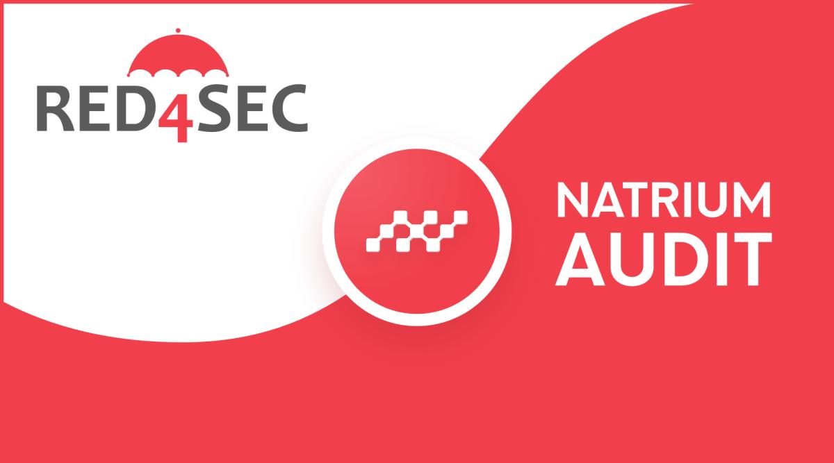 Natrium audited by Red4Sec — No critical vulnerabilities.