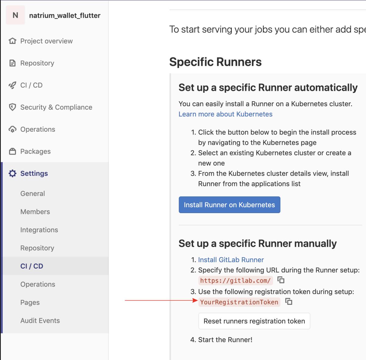 GitLab runner setup