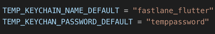 Temporary keychain variables