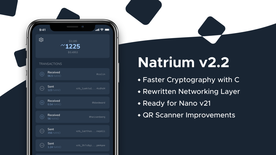 Natrium v2.2 Released on iOS and Android