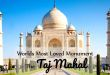World's Most Loved Monument – The Taj Mahal