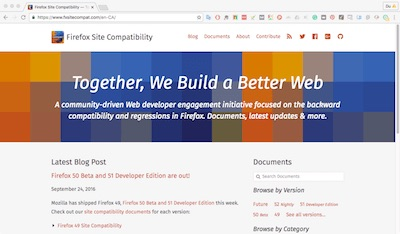 Firefox Site Compability