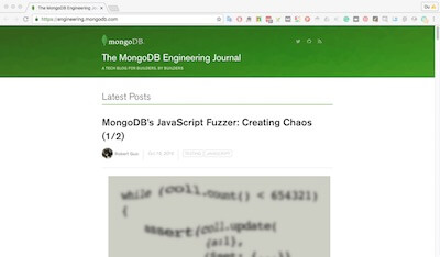 The Mongodb Engineering Journal