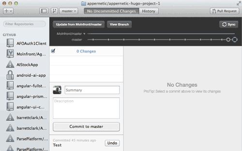 GitHub Desktop app