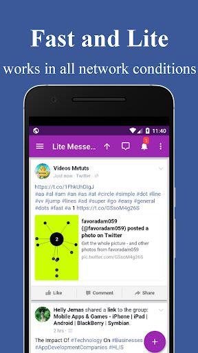 Mini Messenger- Lite Messenger: 1 2 Communication App for