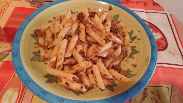 Menu con Ventis: pennette con condimento alla contadina